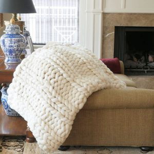 The Mary - chunky wool blanket